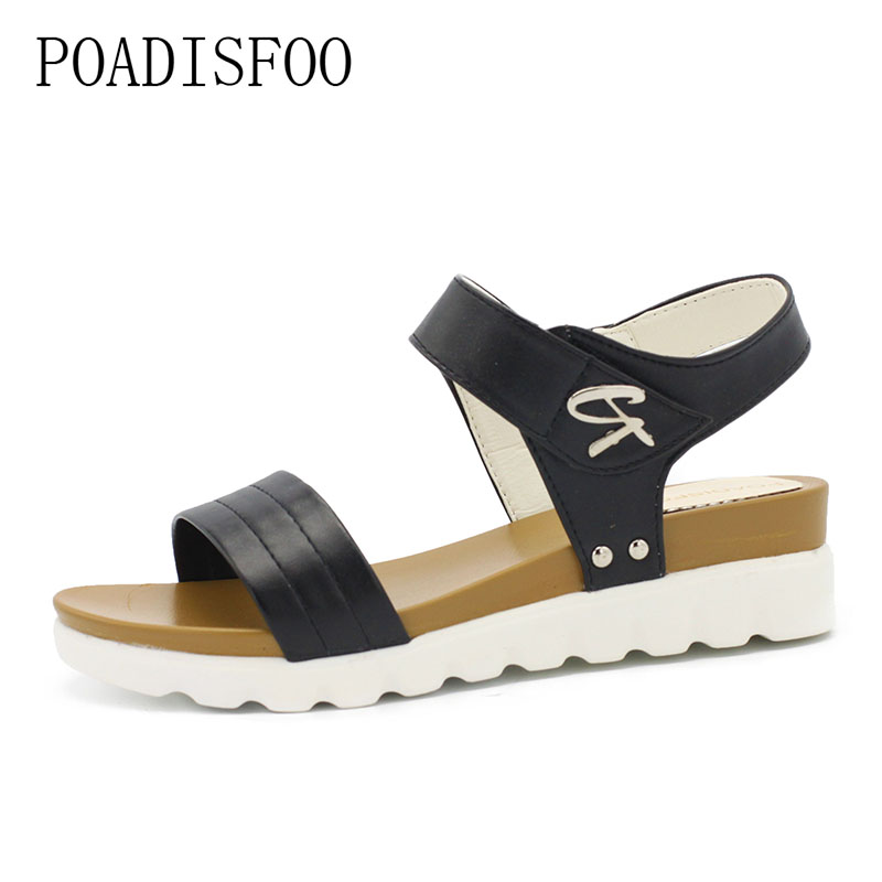sandalias mujer 2018 summer gladiator sandals women aged leather flat fashion sandals comfortable ladies shoes .HYKL-666 2018 summer gladiator thong sandals women aged leather flat fashion women shoes casual comfortable diamond female sandals b128