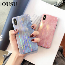 OUSU Unique Marble Smooth Case For huawei P20 P10 pro Mate 20 10 Honor 9 Nova 3 Original Hard PC Cute Cases Cover
