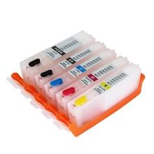 PGI550 CLI551 Refillable Ink cartridge PGI-550 CLI-551 with ARC Chips For Canon PIXMA MG6350 IP7250 MX725 MG7150 Inkjet Printer