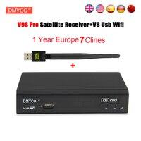 Cline para 1 año europa españa V9S Pro receptor de satélite dvb s2 1080 p Full HD 3G Receptor de Satélite FTA + USB WIFI Youtube Youporn