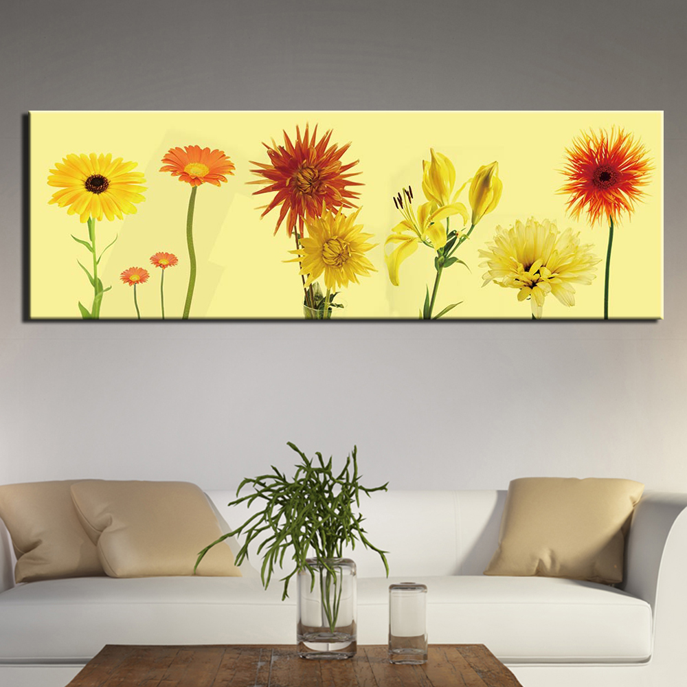 Canvas Pictures For Living Room Wall Art Poster Framework 1 Piece Abstract flower Paintings Landscape Home Decor in Painting Calligraphy from Home Garden