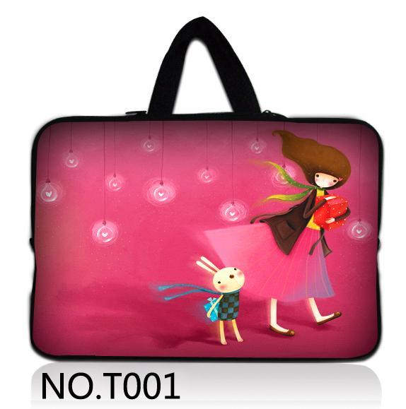 Pink Girl 10 12 13 15 17 17.3 Laptop Sleeve Waterproof Shockproof Sleeve Bag Tablet Case Cover For 15.4 15.6 13.3 Dell HP ASUS