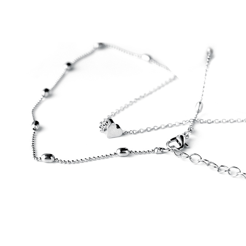 Necklace For Women Silver Choker Multi Row Necklace With Pendant Choker Chain