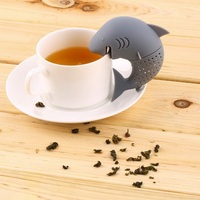2015 Hot Sale Creative Silicone Strainers Tea Infuser Shark Tea Bags Leaf Diffuser Tea Ball Accessories