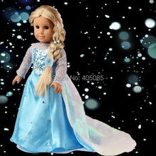 Wholesales Snow Ice Sparkle Princess Dress Doll Clothes For 18 American Girl Handmade