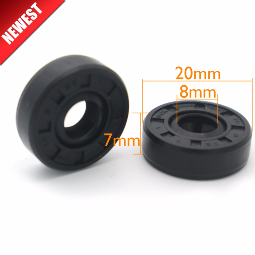 2Pcs Breadmaker Sorbet Machine Repair Parts For LG Oil Seal Ring TC Inner Diameter 8 Outer Diameter 20 Thickness 7 Wearable 100pcs lot 2mm thickness 8 22mm outside dia green viton fkm fluorine rubber o ring oil seal o ring gasket repair tool parts