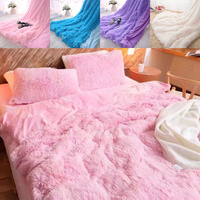 Faux Fur Blanket Soft Fluffy Throw Blankets for Beds Cover Long Shaggy Bedspread Fuzzy Fur Faux Blankets for Bed Warm Cozy