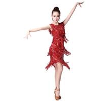 Latin Dance Sequins Tassel Performance Clothing Latin Dance Stage Performance Dress Latin Cha Cha Samba Rumba Competition Dress