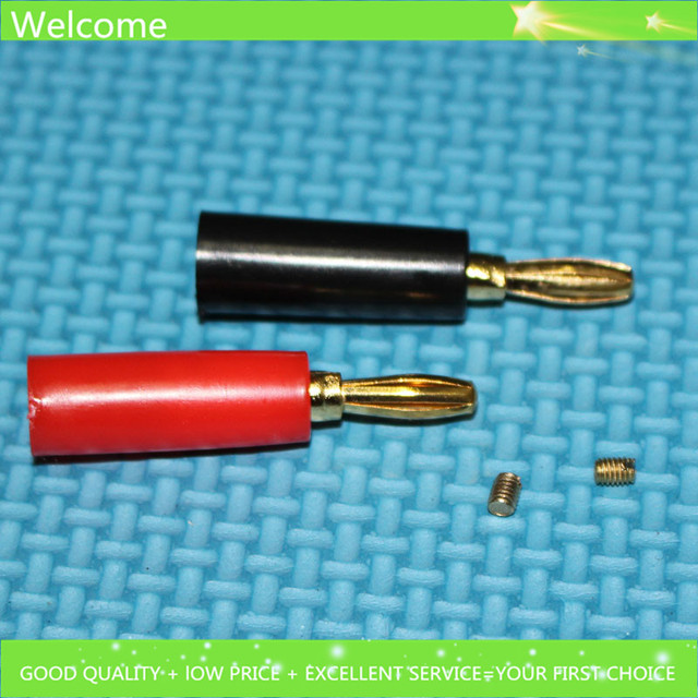 20pcs High quality 47mm Gold plated 4mm Banana Plug Speaker Cable ...