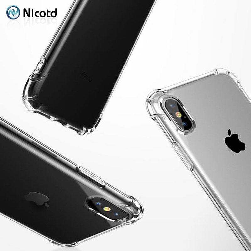 Nicotd TPU Case For iPhone XS Max Soft Case Clear Thin Cases For iPhone XS MAX XR X 7 PLUS 8 6S Case Crystal Silicone Cover bags (5)