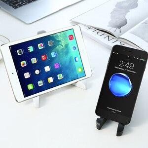 Складной держатель для планшета для телефона Подставка для iPad iPhone 11 Pro 7 8 XR X Настольный Гибкий Настольный треугольный держатель для мобильн...