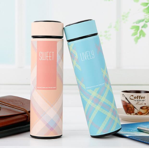 5 Colors Thermos Mug 480ml Stainless Steel Thermos Coffee Tea Mug Thermo Bottle Against Hot Cups