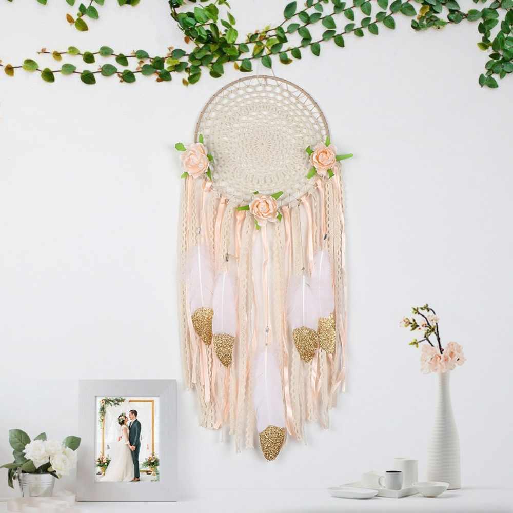 Atrapasueños bohemio OurWarm decoración colgante para el hogar atrapasueños unicornio Luna búho flor decoración boda fiesta obsequios para los invitados