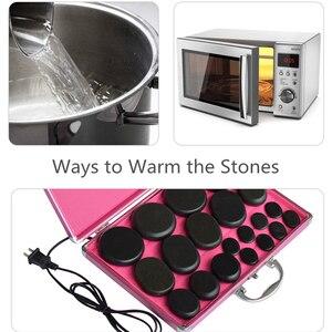 Image 5 - Sıcak taş masajı lava taşlar doğal enerji masaj Spa taşlar Set kaya bazalt toptan vücut sağlık