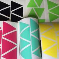 100 pièces 5 cm Déhoussable motifs triangles Stickers Muraux pépinière Géométrique murale pour décor de Chambre D'enfants, M2S1