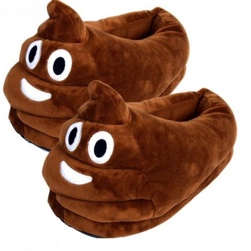 Funny Men Winter Indoor Plush Shoes Lovely Gift Women Children Stuffed House Shoes Warm House Smiley Emoticon Slippers winter warm soft plush indoor floor home slippers men women children christmas style funny monster dinosaur claw house shoes man