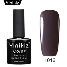 Yinikiz Glitter 25 Colors Gel Nail Polish Nail Art Nail Gel Varnish UV LED Long-lasting Gel Nail Lacquer