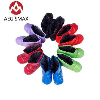 Aegismax akcesoria do toreb do spania białe puchowe kapcie Ultralight Camping Outdoor miękkie skarpety Unisex kryty ciepłe puchowe buty tanie i dobre opinie [15℃ ~ 5℃] Dla dorosłych Standardowy (nadaje się do 1 8 m wysokości i poniżej) Łączenie singiel śpiwór NYLON