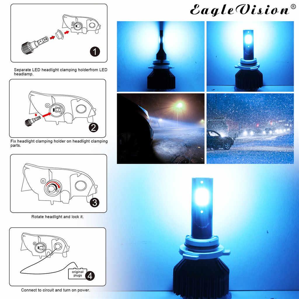 CARPRIE Auto Koplamp Lampen (LED) NIEUWE hot verkoop 2x9006 LED Koplamp Conversie Kit Lamp 30000LM High Power 8000K Ice Blue 9617