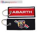 10pcs ABARTH Embroidery Auto Metal 3D Car Keyring Key Chain