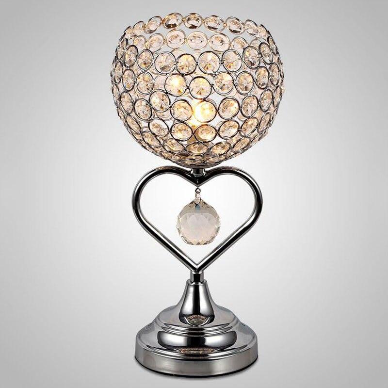 new modern led crystal lamp living room bedroom bedside