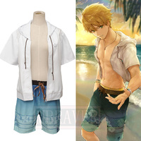 Fate/Grand Order FGO Hero On The Beach Arthur Pendragon Swimsuit Cosplay Costume Halloween Uniform Custom Made Any Size