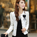 New 2016 Fashion slim blazer clothing suit candy color short design outerwear blazer short women coat the jacket Plus size L-5XL