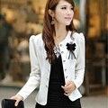 Novo 2016 roupas de Forma magro blazer terno doce cor curto projeto outerwear blazer curto revestimento das mulheres jaqueta Plus Size L-5XL
