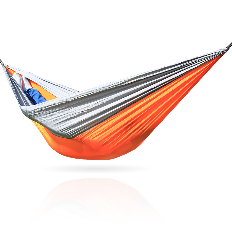 Orange Gray Hammock nylon Parachute fabric Hammocks Outdoor Camping Hamac Hamaca HammacOrange Gray Hammock nylon Parachute fabric Hammocks Outdoor Camping Hamac Hamaca Hammac