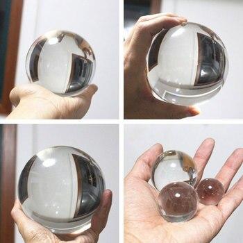 1 Pc di Vetro Trasparente Sfera di Cristallo Healing Sfera Fotografia Puntelli Lensball Decor Regalo di 30-60 Mm