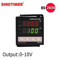 0 10V wyjście analogowe uniwersalna termopara PT100 wejście cyfrowy regulator temperatury pid termostat do chłodzenia z alarmem w Termometry od Narzędzia na