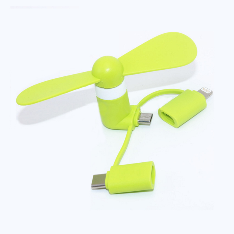 HTB1CF0TKxWYBuNjy1zkq6xGGpXar BinFul Wholesale Portable Travel Mini USB+Micro Type c USB Fan Gadget for Android smart Phone for iPhone X 8 7 plus 6s 6 Plus 5s