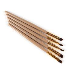 Eyeliner Eyebrow Brush Makeup Brush Bamboo Oblique Head Brush Pro Eye Liner Eye Brow Brush Cosmetic Makeup Beauty Tools недорого