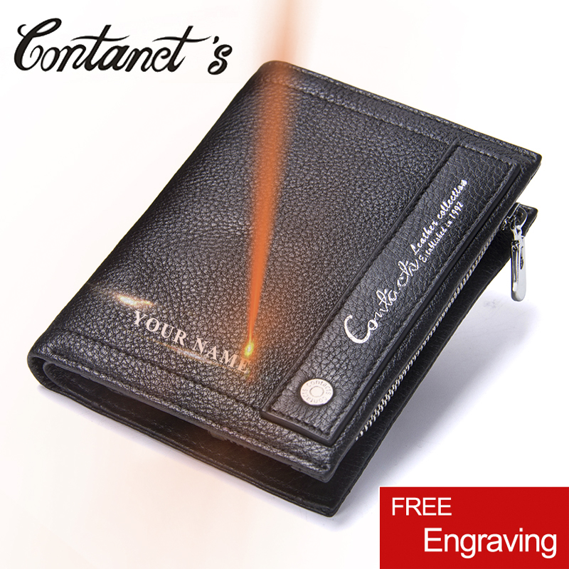 Genuine Leather Men Wallets New Fashion Design Coin Purse Card Holder Wallet For Men Portomonee Male Zipper Bag Famous Brand genuine leather men wallets 2018 famous brand credit card holder purse bag coin pockets zipper long wallet high quality tw1634