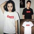 Mulheres cartas Casual imprimir camiseta 100% algodão camisas femininas Menina básica de manga curta Camisas O pescoço tops plus size Preto branco