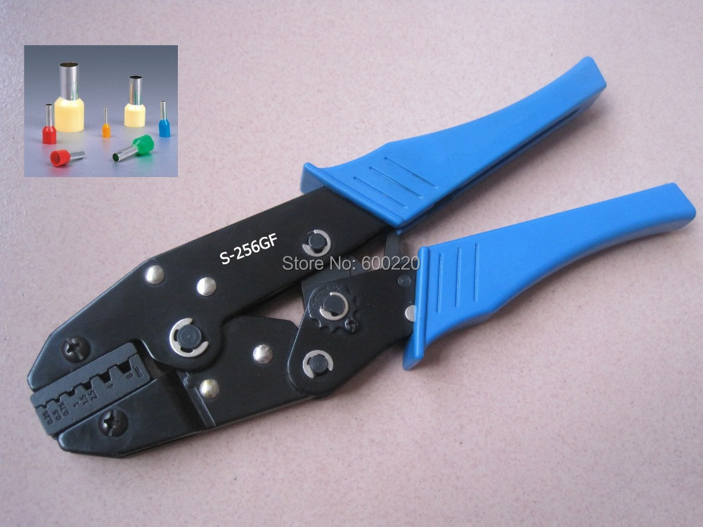 Hand crimping tool for cable ferrules 0.25-6mm2 crimping plier for end sleeves LS-256GF