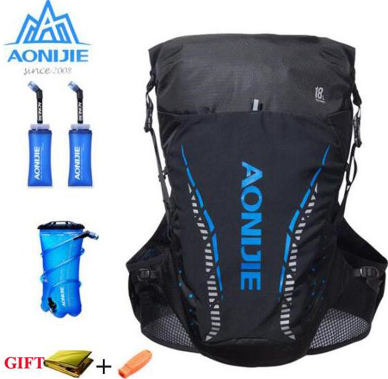 AONIJIE 18L Backpack Outdoor Sports Bag Trail Running Vest Hydration Bag Men Women Marathon Cycling Hiking