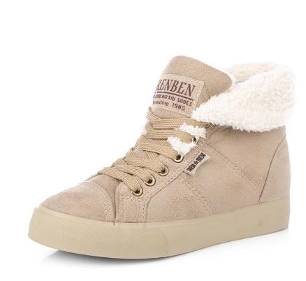 Femmes Xt09 red Nouvelle Chaud De brown khaki Bottes Chaussures Et Mode Huanqiu Neige Cheville Hiver Femelle Fourrure Black Automne qxdnwxT06