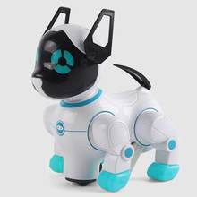 Robot Dogs Electronic Pets with Music Lighting Bark Stand Walk Universal Wheel Cute Interactive Dog Electronic Toys For Kids