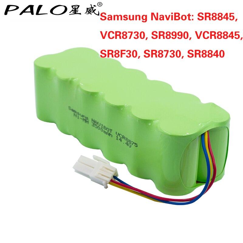 Bâton 14.4 v 3500 mah batterie rechargeable NI-MH pour Samsung NaviBot: SR8845, VCR8730, SR8990, VCR8845, SR8F30, SR8730, SR8840