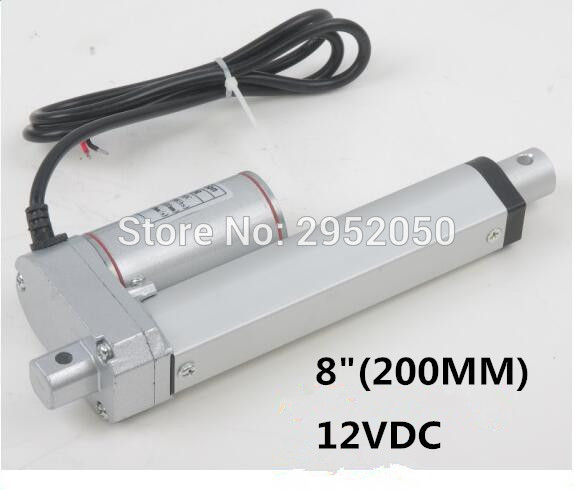 US $45 27 16% OFF  linear actuator electric linear actuator TV lift high  speed linear actuator 12V 200mm/8inch stroke 900N /198LBS micro-in Linear