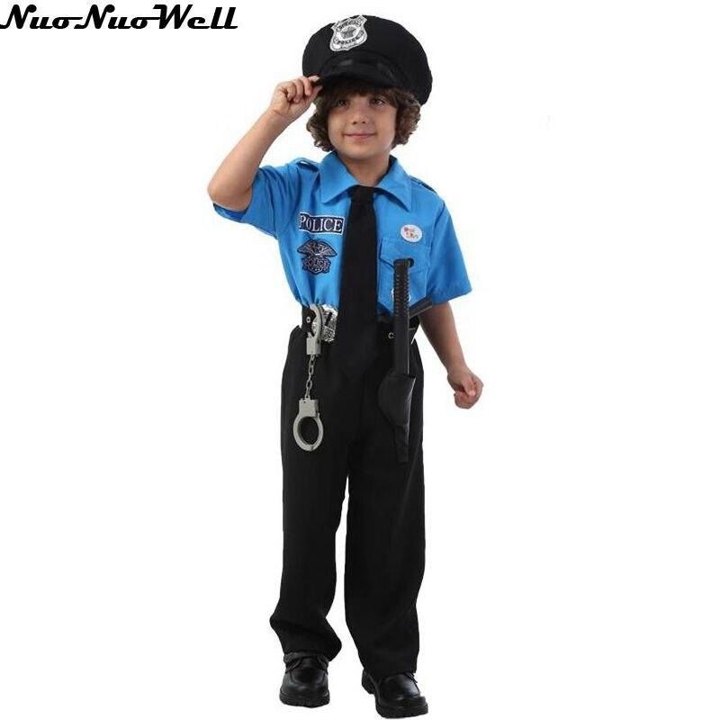 Çocuklar Cadılar Bayramı Polis Kostümleri çocuk Günü Erkek - Kostümler - Fotoğraf 6