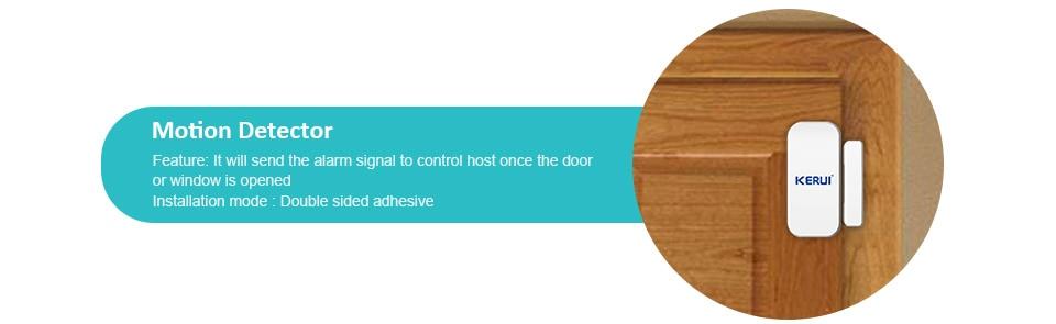 KERUI G18 Wireless Home GSM Security Alarm System DIY Kit APP Control With Auto Dial Motion Detector Sensor Burglar Alarm System 19