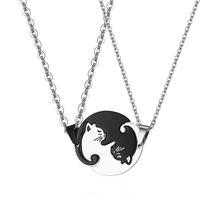 2020 пары Горячая Мода ожерелье для женщин кошка подвеска ювелирные