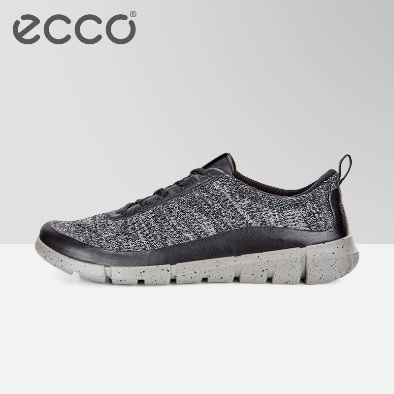 ECCO Spring Autumn Men Casual Shoes Brand Fly Knit Breathable Men Sneakers Flats Mesh Slip On Loafers Light Weight Footwears