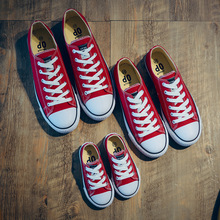Sepatu Mahasiswa Remaja Anti-Slippery Flats Sepatu Anak-anak Keluarga Pencocokan Sepatu Untuk Balita Laki-laki Sepatu Kanvas Gadis 20-38