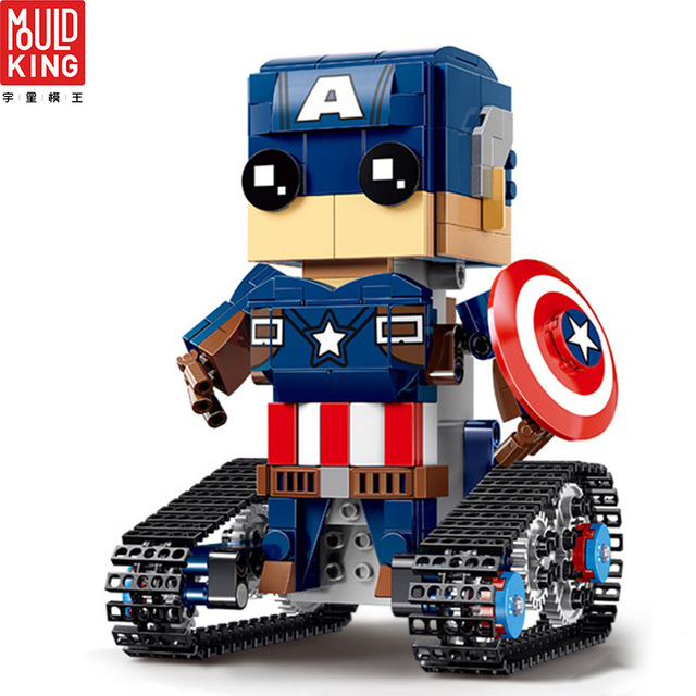 Mould king avengers action figure remote control super heroes captain america building blocks movie rc toys lepin™ land