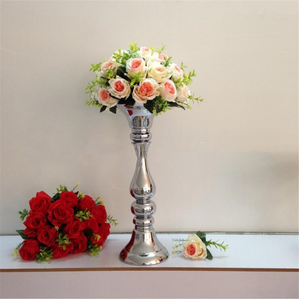 New arrival height 48cm silver flower vase road lead wedding table new arrival height 48cm silver flower vase road lead wedding table centerpieces decoration event party supplies in vases from home garden on reviewsmspy