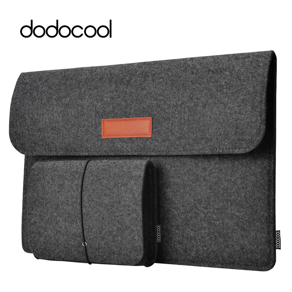 "dodocool 12"" 13"" Laptop Bag Case Felt Sleeve Cover Carrying Case 4 Compartment with Mouse Pouch for Apple 13"" MacBook Air Pro"