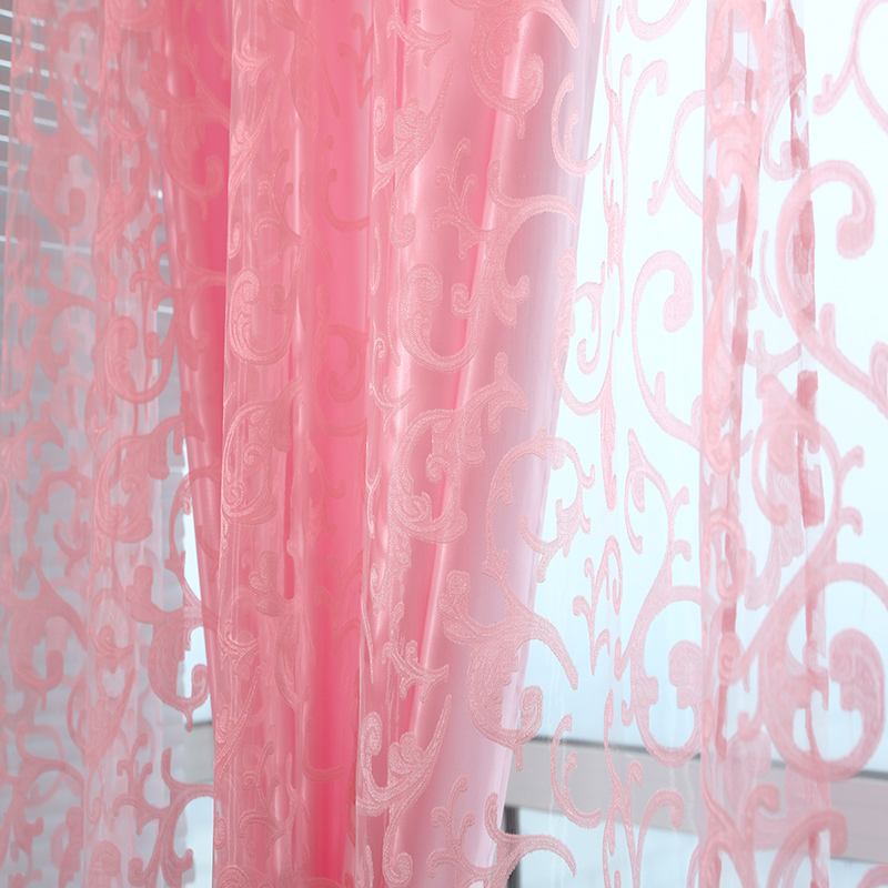 Decorative Fabric Sheer Tulle Curtains For Living Room Children Bedroom Kitchen Door Curtains Modern Home Window Cortinas